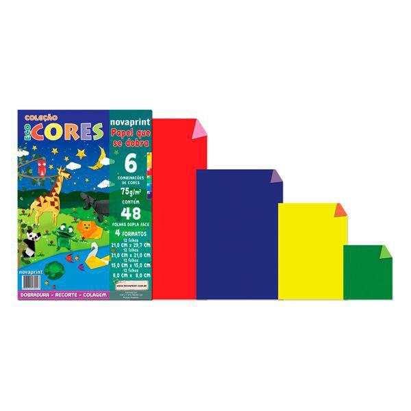 Papel Eco Cores Dobradura 75g 48 Folhas Nova Print  - INK House