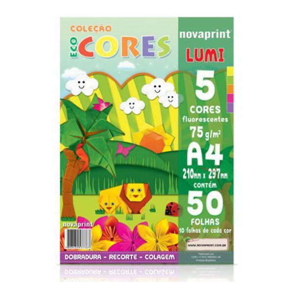 Papel Eco Cores Lumi A4 75g 50 Folhas Nova Print  - INK House