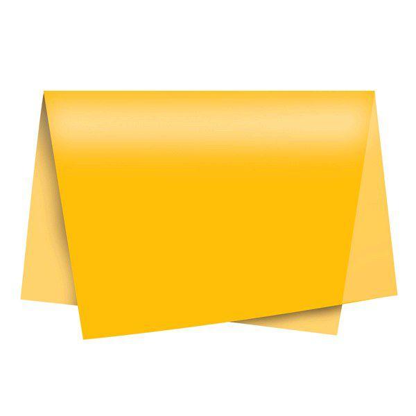 Papel de Seda 48 x 60cm Amarelo Nova Print