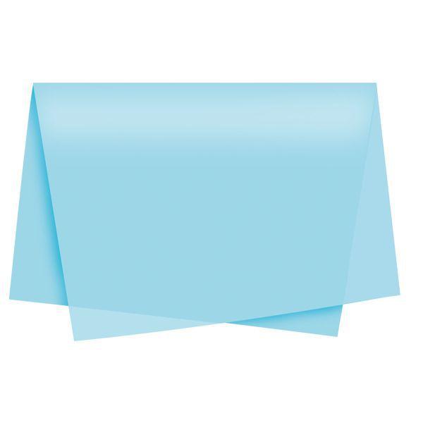 Papel de Seda 48 x 60cm Azul Claro Nova Print