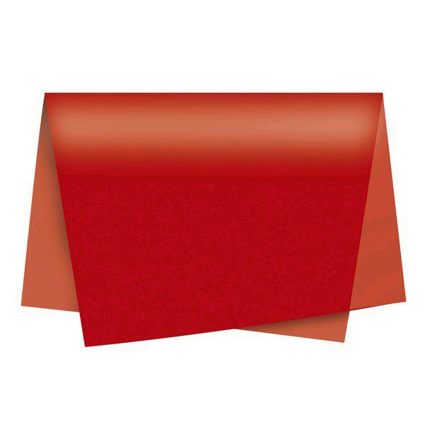 Papel de Seda 48 x 60cm Vermelho Nova Print  - INK House