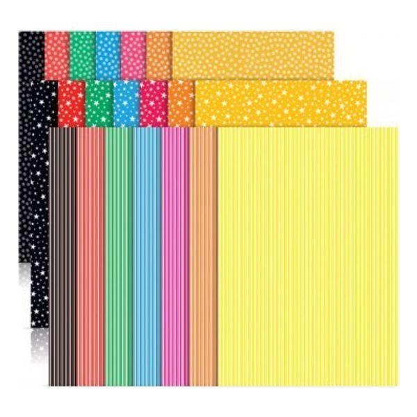 Papel Eco Cores Textura Visual 2 36 Folhas Nova Print