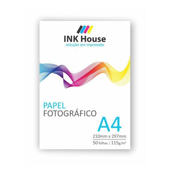 Papel Fotográfico A4 Brilhante 115g - 50 folhas  - INK House