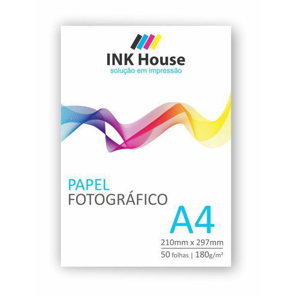 Papel Fotográfico A4 Brilhante 180g - 50 folhas  - INK House