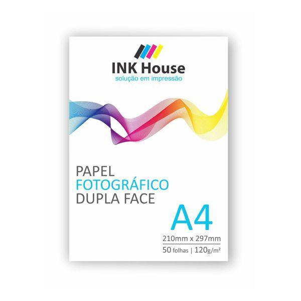 Papel Fotográfico A4 Brilhante Dupla Face 120g - 50 folhas  - INK House