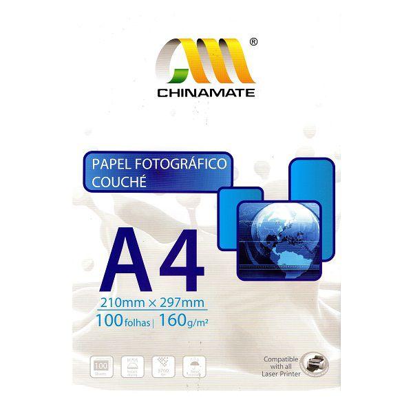 Papel Fotográfico A4 Couché 160g - 100 folhas