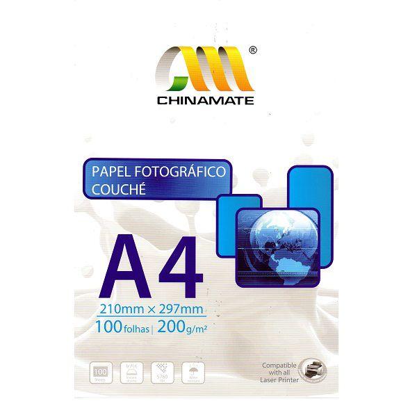 Papel Fotográfico A4 Couché 200g - 100 folhas