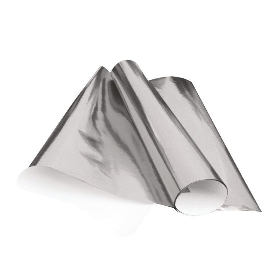 Papel Laminado 48 x 60cm Prata Nova Print