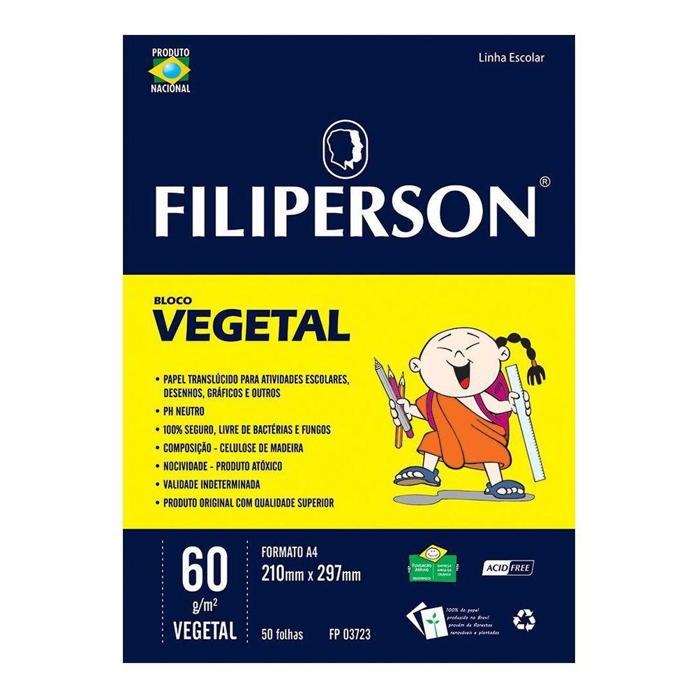 Papel Vegetal A4 60g 50 folhas Filiperson  - INK House