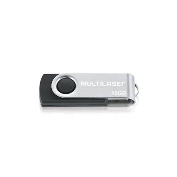 Pen Drive 16GB USB 2.0 Twist Preto PD588 Multilaser