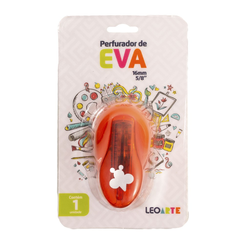 Perfurador de EVA 16mm Abelha Laranja Leoarte
