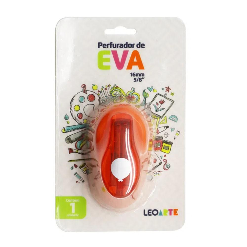Perfurador de EVA 16mm Balão Laranja Leoarte