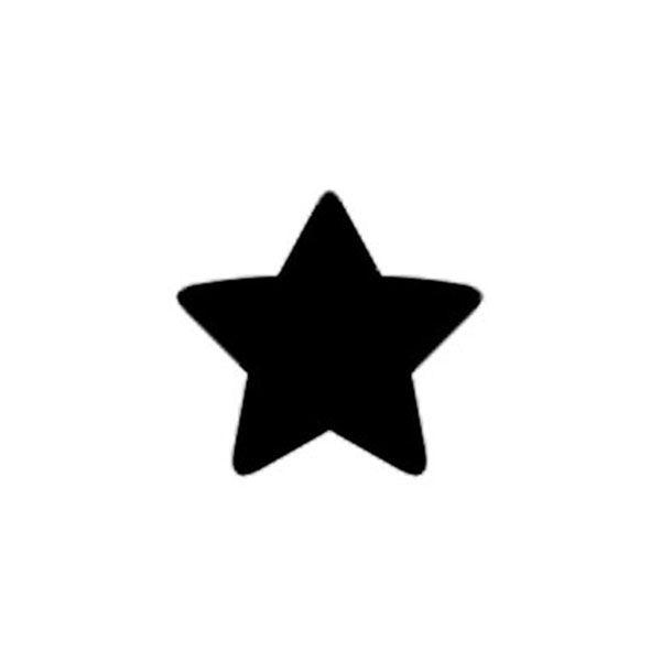 Perfurador de EVA 16mm Estrela Laranja Leoarte
