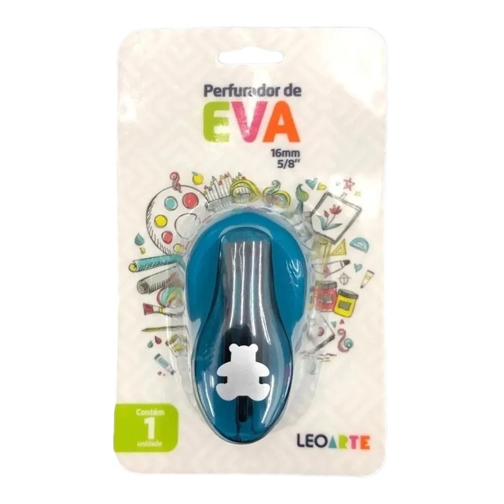 Perfurador de EVA 16mm Urso Azul Leoarte
