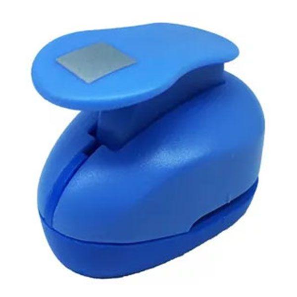 Perfurador de EVA 25mm Quadrado Azul Leoarte  - INK House