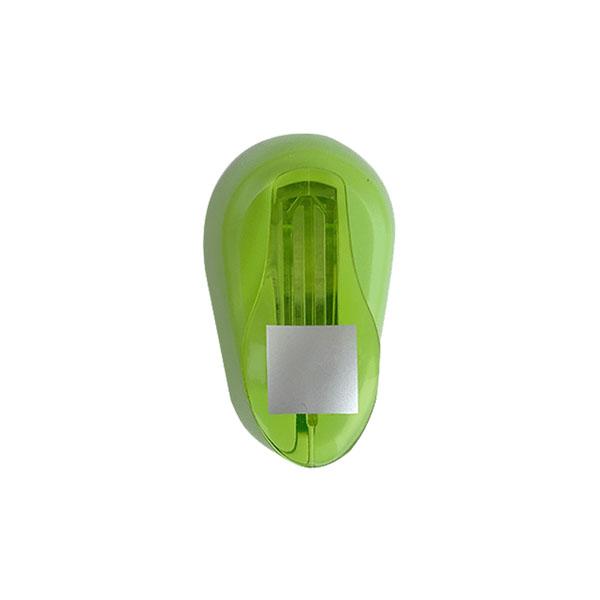 Perfurador de EVA 25mm Quadrado Verde Leoarte