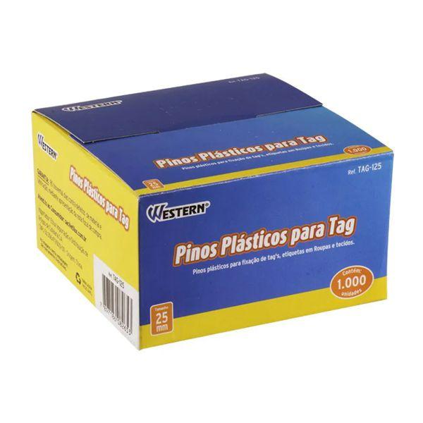 Pinos Plásticos para Tag 25mm 1000 Unidades Western