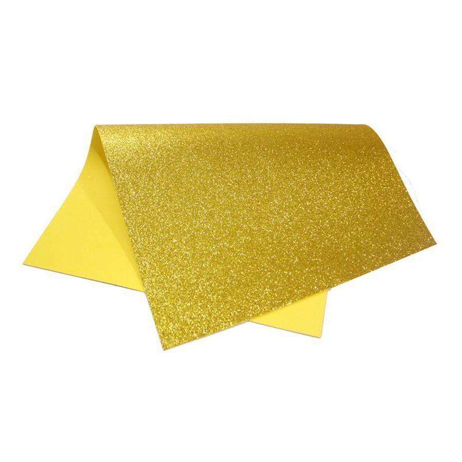 Placa de EVA Glitter Ouro 2mm 40cm x 60cm Leo e Leo  - INK House