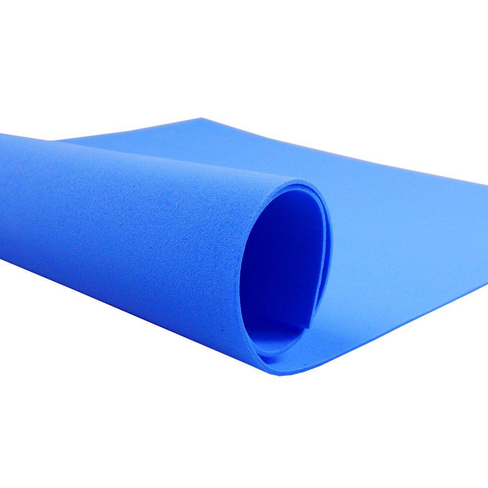 Placa de EVA Liso Azul 2mm 40cm x 60cm Leo e Leo  - INK House
