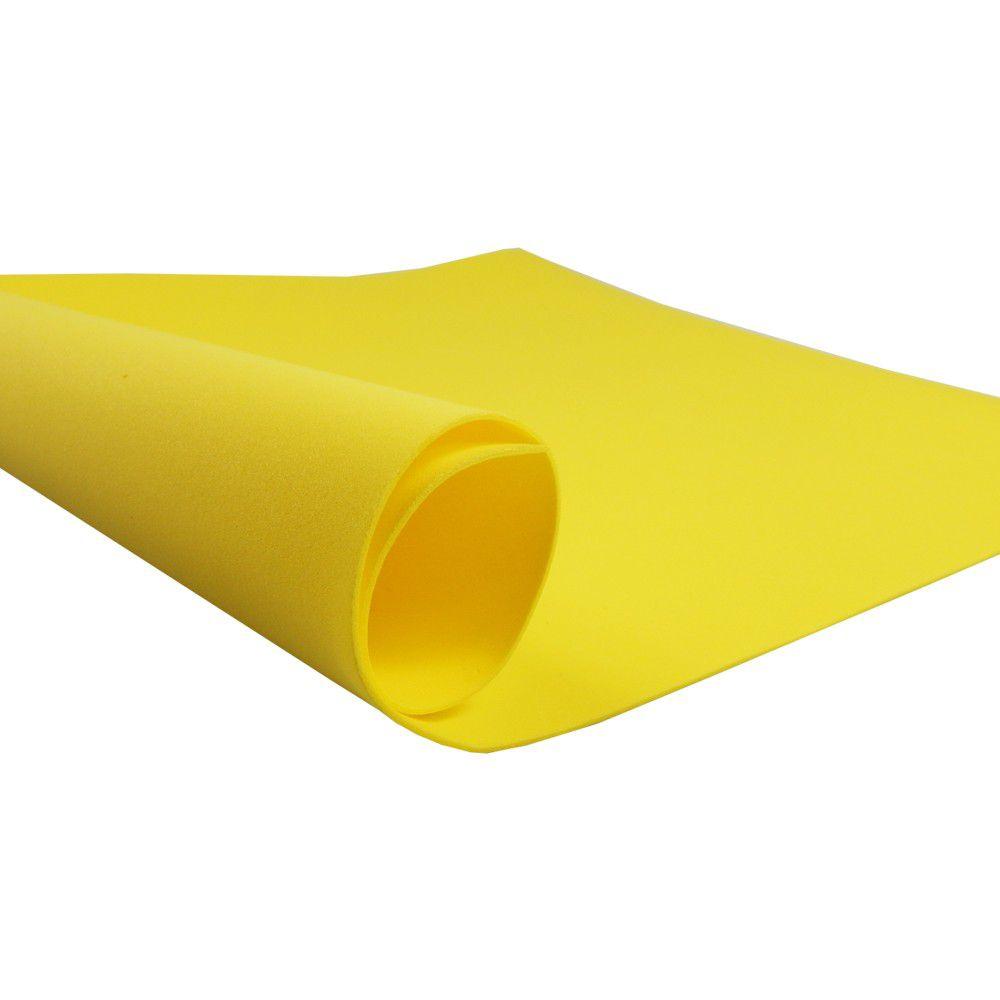 Placa de EVA Liso Amarelo 2mm 40cm x 60cm Leo e Leo