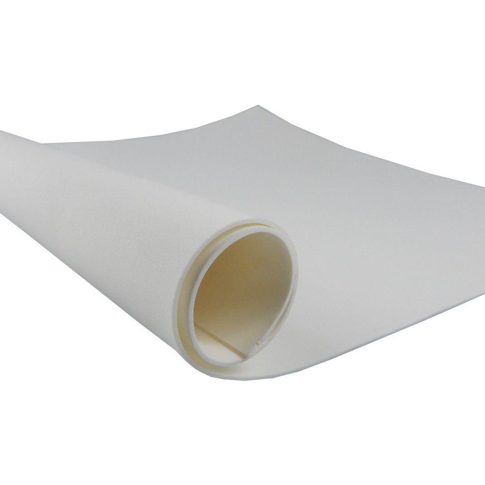 Placa de EVA Liso Branco 2mm 40cm x 60cm Leo e Leo