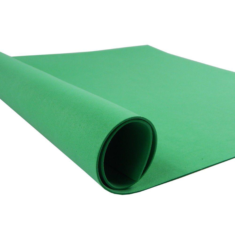 Placa de EVA Liso Verde Escuro 2mm 40cm x 60cm Leo e Leo