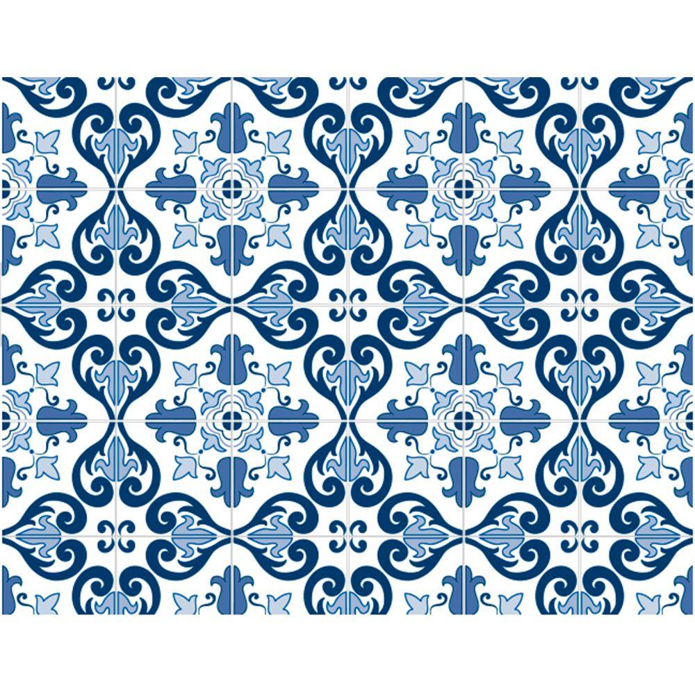 Plástico Adesivo 45cm x 10m Azulejo 2 Leotack
