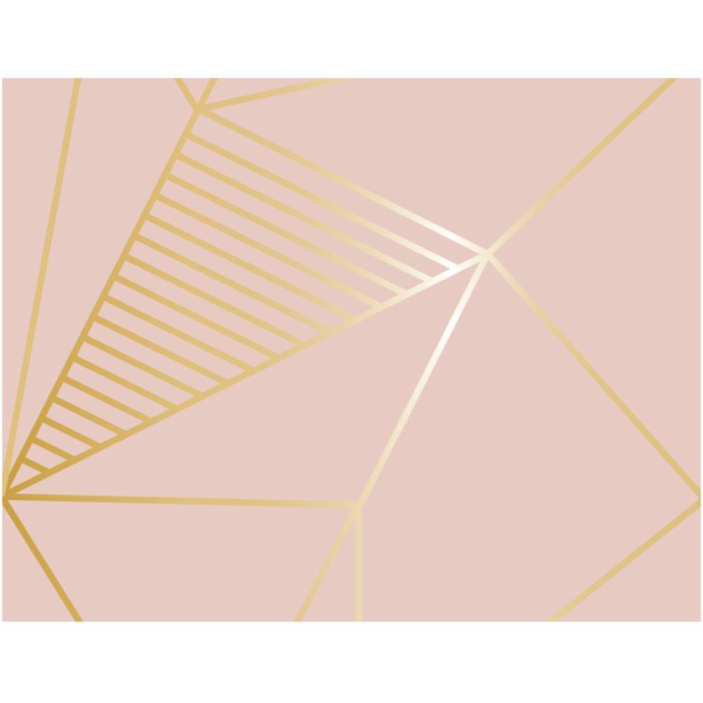 Plástico Adesivo 45cm x 10m Geométrico Rose Gold Leotack
