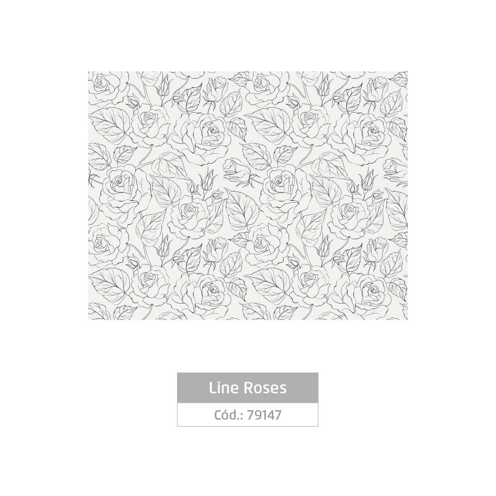 Plástico Adesivo 45cm x 10m Line Roses Leotack