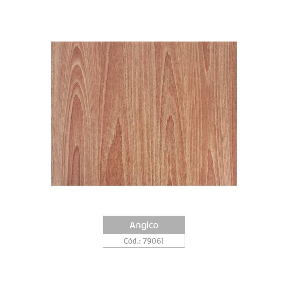 Plástico Adesivo 45cm x 10m Madeira Angico Leotack