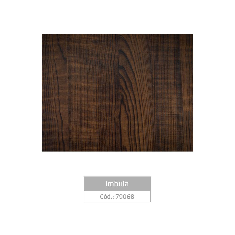 Plástico Adesivo 45cm x 10m Madeira Imbuia Leotack