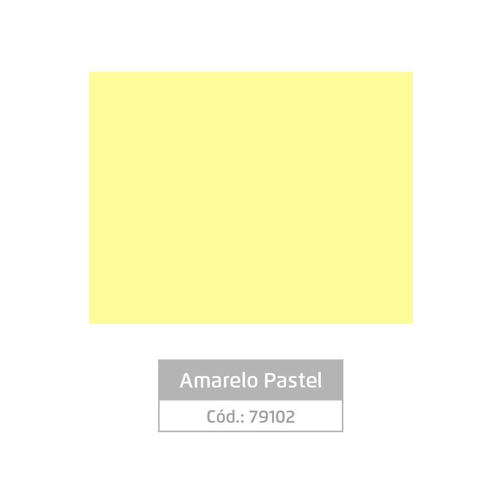 Plástico Adesivo 45cm x 10m Pastel Amarelo Leotack
