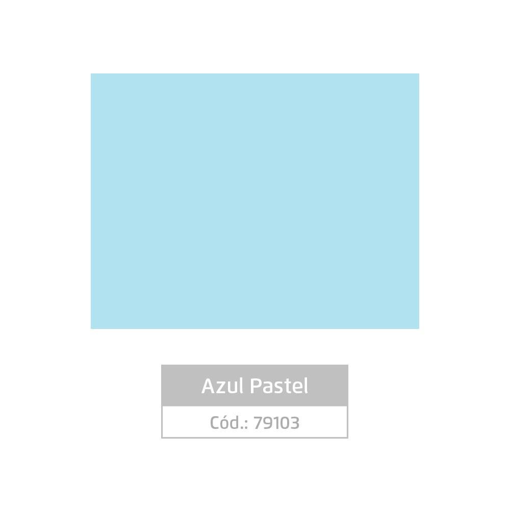 Plástico Adesivo 45cm x 10m Pastel Azul Claro Leotack