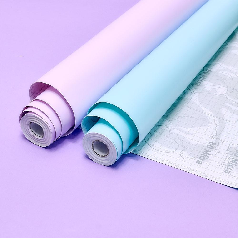 Plástico Adesivo 45cm x 10m Pastel Laranja Leotack