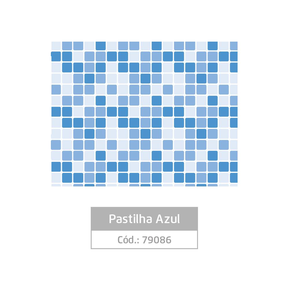 Plástico Adesivo 45cm x 10m Pastilha Azul Leotack
