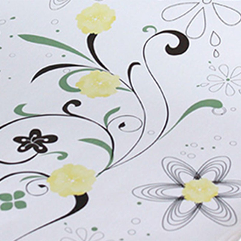 Plástico Adesivo 45cm x 1,5m Flores 3 Leotack