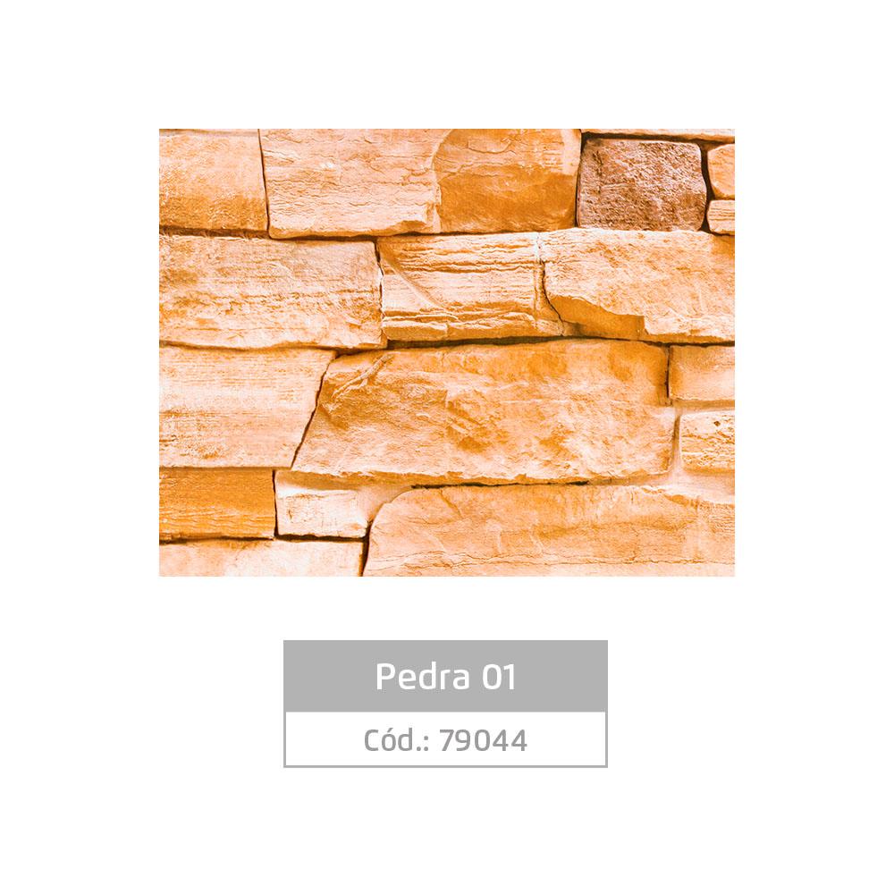 Plástico Adesivo 45cm x 1,5m Pedra 1 Leotack
