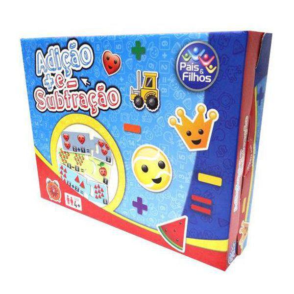 Jogo Adição e Subtração Brinquedo Educativo Pais e Filhos