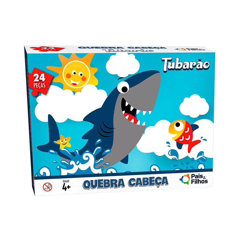 Quebra-Cabeça Tubarão 24 Peças Pais e Filhos