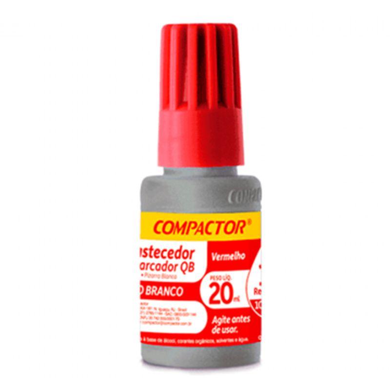 Reabastecedor para Marcador de Quadro Branco Vermelho 20ml Compactor  - INK House