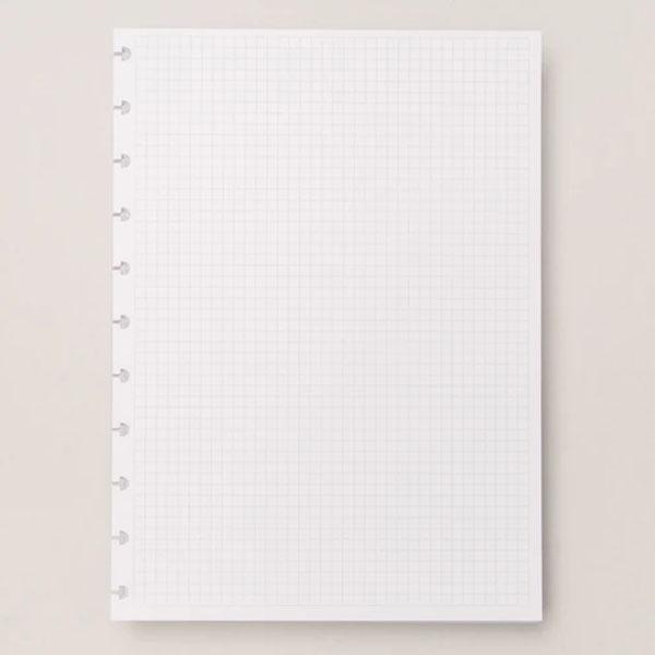 Refil Branco Quadriculado A5 90g 50 Folhas Caderno Inteligente