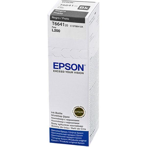Refil de Tinta Original Epson T664 T664120 T664120AL L200 L220 L110 L355 L555 L210 L455 L365 - Preto  - INK House