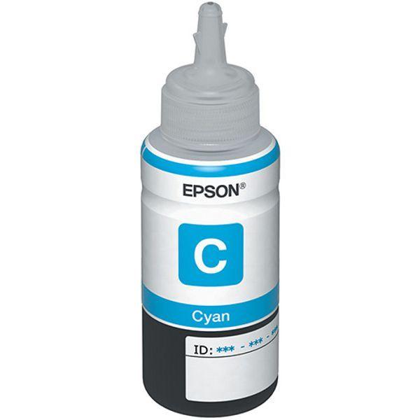 Refil de Tinta Original Epson T664 T664220 T664220AL L200 L220 L110 L355 L555 L210 L455 L365 - Ciano