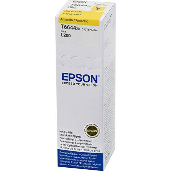 Refil de Tinta Original Epson T664 T664420 T664420AL L200 L220 L110 L355 L555 L210 L455 L365 - Amarelo  - INK House