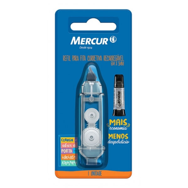 Refil para Fita Corretiva Recarregável 5mm x 6m Mercur