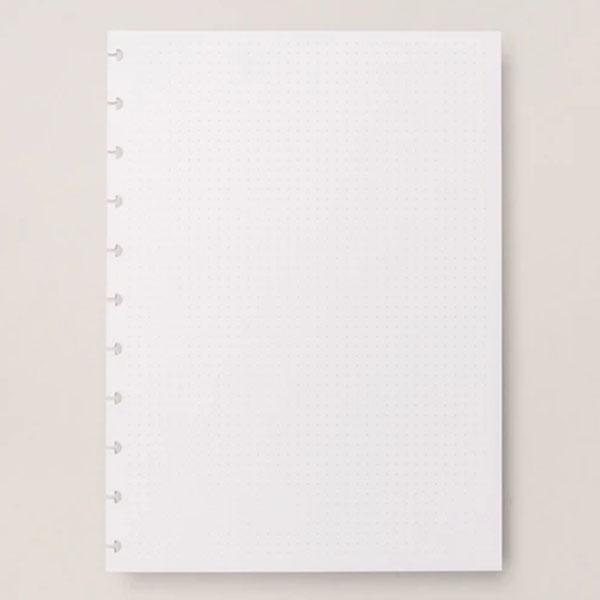 Refil Branco Pontilhado A5 120g 30 Folhas Caderno Inteligente