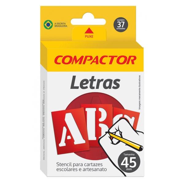 Stencil Letras e Números 45mm Compactor