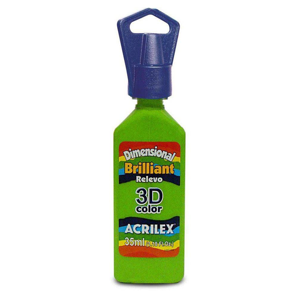 Tinta Dimensional Brilhante Relevo 3D 35ml Verde Abacate Acrilex