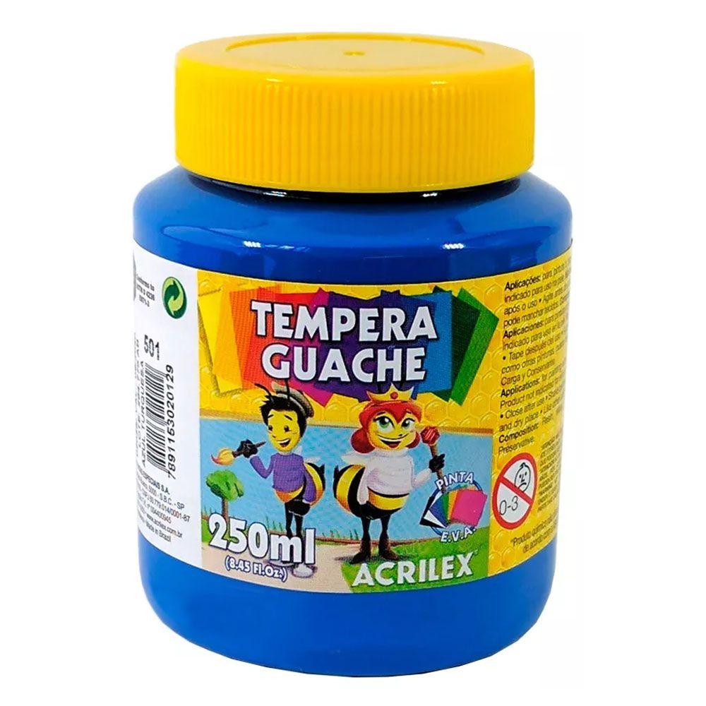 Tinta Guache 250ml Azul Turquesa Acrilex