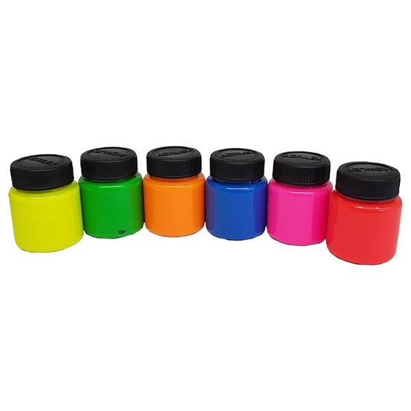Tinta para Tecido Art Teen 6 Cores Neon Acrilex